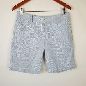Ann Taylor Original Blue Pinstriped Shorts